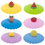 Aspire 6 PCS Silicone Hot Cup Lids, Lovely Fruit Mug Covers Party Accessories