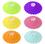Aspire 6 PCS Lucid Acrylic diamond Silicone Drink Cup Lids, Creative Mug Cover Airtight Seal