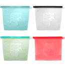 Aspire 4 Pieces Reusable Silicone Food Storage Preservation Bags Versatile Preservation Bags for Fruits Vegetables Meat Milk and More