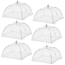 Aspire 6 Packs Mesh Food Covers Screen Tents Protectors for Bugs Pop Up Indoor & Outdoor Food Covers