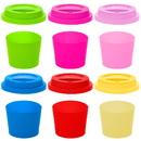 Aspire Silicone Cup Lids and Cup Sleeves BPA Free Eco-Friendly Dishwasher Safe Spill Proof