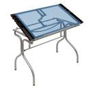 Studio Designs 13220 Folding Craft Station Silver / Blue Glass