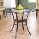 Holly & Martin 33-187-022-5-04 Paisley Dining Table w/ Glass Top