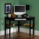 Holly & Martin 55-016-020-6-01 Alexander Corner Computer Desk-Black