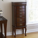 Holly & Martin 57-018-036-3-20 Amelia Medium Mahogany Jewelry Armoire