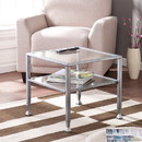 SEI CK0770 Metal/Glass Cocktail Table - Silver
