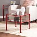 SEI CK2770 Metal/Glass Bunching Cocktail Table - Red