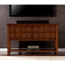 SEI MS9919 Apothecary Console/TV Stand - Brown Mahogany