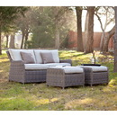 SEI OD5541 Avadi Outdoor 2.5 Seater Sofa & Ottoman 3pc Set