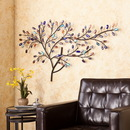SEI WS9558 Brenchan Metal/Glass Tree Wall Sculpture