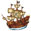 Custom Jointed Pirate Ship, 31