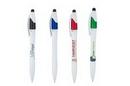 Custom iSlimster 4 in 1 Pen w/White Barrel - in Full Color