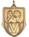 Custom 100 Series Stock Medal (Pom Pom) Gold, Silver, Bronze