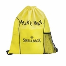 Custom Nylon Slender Drawstring Backpack, 14 3/4