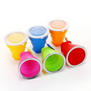Custom Collapsible Silicone Cups, 3 9/16