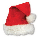 Custom Velvet Santa Hat w/ Plush Trim