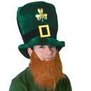 Custom Plush Leprechaun Hat w/ Beard