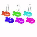 Custom Fish Shape Metal Pet ID Tags Key Chain, 1 1/2
