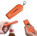 Custom Bottle Cap Opener w/Keychain, 4 9/16