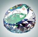 Custom Clear Gem Cut Round Optical Crystal Paper Weight, 2