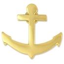 Custom Gold Anchor Lapel Pin, 3/4
