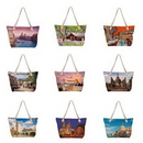 Custom Beach Tote Bag with Thick Rope Handle, 19