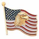 Blank Military Award Lapel Pins (Eagle & American Flag), 7/8