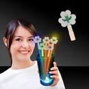 Custom Clover Shape Glow Swizzle Toppers