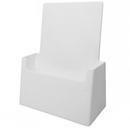 Custom White Pamphlet Holder, 6 1/8