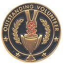 Blank Recognition Award Lapel Pins (Outstanding Volunteer), 3/4