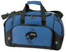 Custom Double Zipper Main Compartment Deluxe Duffel Bag