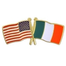 Custom Usa & Ireland Flag Pin, 1 1/8