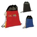 Custom Tri Tone Mesh Drawstring Bag, 18.11
