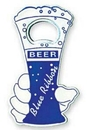 Custom Beer Glass Shape Bottle Opener with Magnet