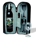 Custom Wine Travel Case with 2 Glasses (Laser Engraved)