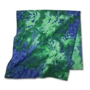 Custom Tie Dye Bandanna Blue Green