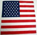 Custom 100% Cotton USA Flag Bandanna