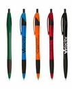 Custom The Gripped Slimster Pen with Rubber Grip & Black Trim