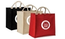 Custom Jute/Cotton Blended Fabric Tote with Magnetic Closure, 13.5