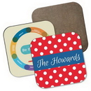 Custom Hardboard Square Coaster w/Full Color Sublimation, 3.5