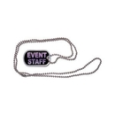 Custom Aluminum Printed Dog Tags w/ Ball Chain, 1.125