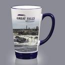 Custom AstroSub™ Funnel Mug - 16oz Cobalt