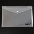 Custom Clear File Folder Packet with Button, 12 4/5