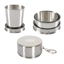 Custom Stainless Steel Travel Folding Collapsible Cup - 140 Ml, 2 1/2