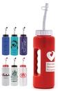 Custom 32 Oz. Grip Bottle w/ Handle & Flexible Straw