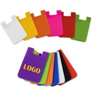 Custom Silicone Cell Phone Wallet/Card Sleeve, 3 7/16
