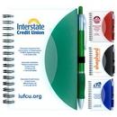 Custom Stylish Spiral Notepad Notebook w/ Pen, 3 3/4