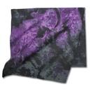 Custom Amethyst Purple/ Black Tie Dye Bandanna 22x22 (Printed), 22