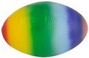 Custom Rainbow Football Squeezies Stress Reliever, 3.25