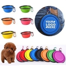 Custom Silicone Collapsible Dog Bowl, 5.1